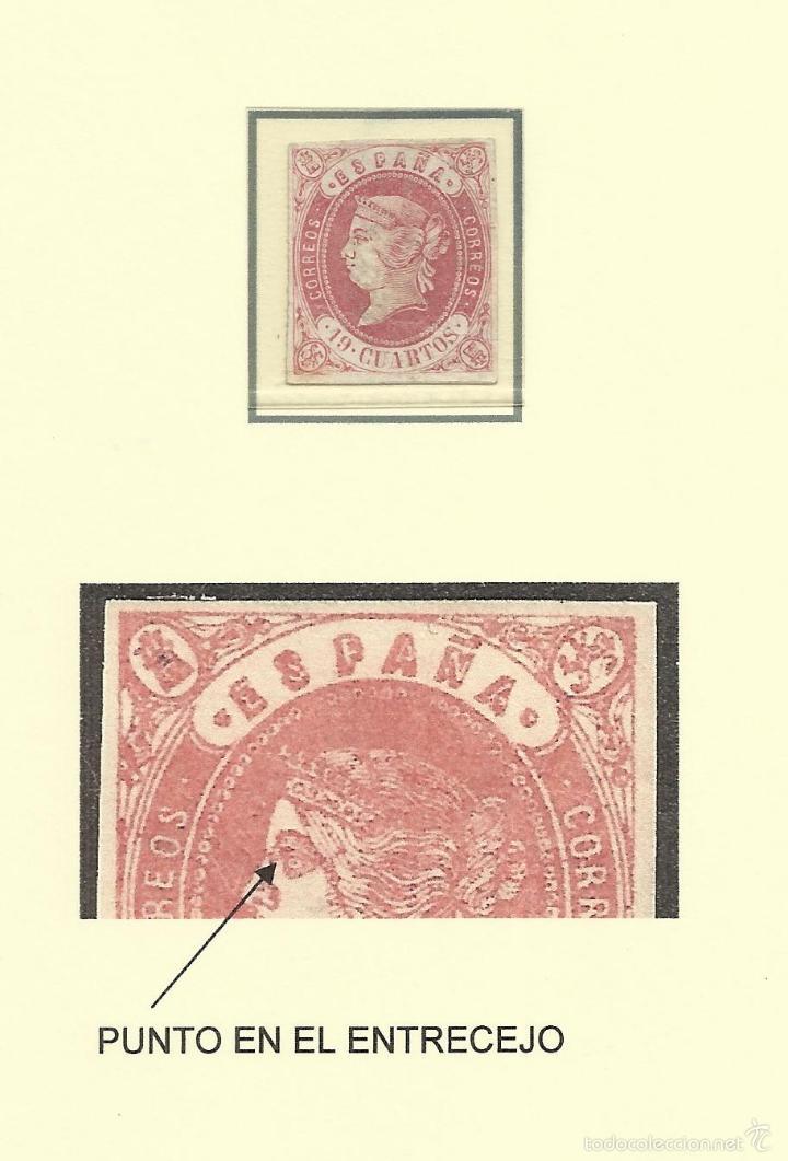 1862 ISABEL II EDIFIL 60 NUEVO(*) VALOR 2016 CATALOGO 265.- EUROS (Sellos - España - Isabel II de 1.850 a 1.869 - Nuevos)