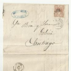 Sellos: CIRCULADA Y ESCRITA 1867 DE BURGOS A SANTIAGO. Lote 58328658
