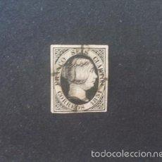 Sellos: ESPAÑA,1851,ISABEL II,EDIFIL 6,MATASELLO ARAÑA NEGRO,(LOTE RY). Lote 59136520