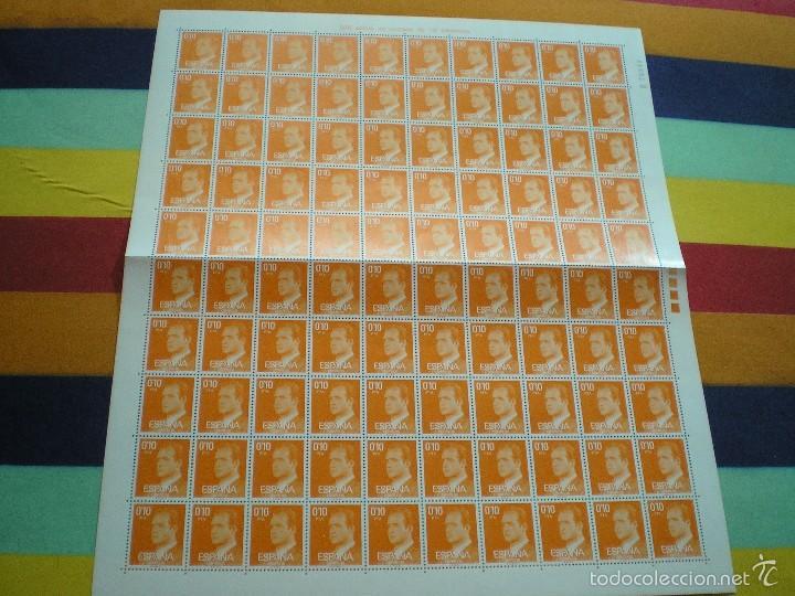 PLIEGO COMPLETO, NUMERADO, DE 100 SELLOS, DE 0,10 CTMS. DEL REY (Sellos - España - Isabel II de 1.850 a 1.869 - Nuevos)