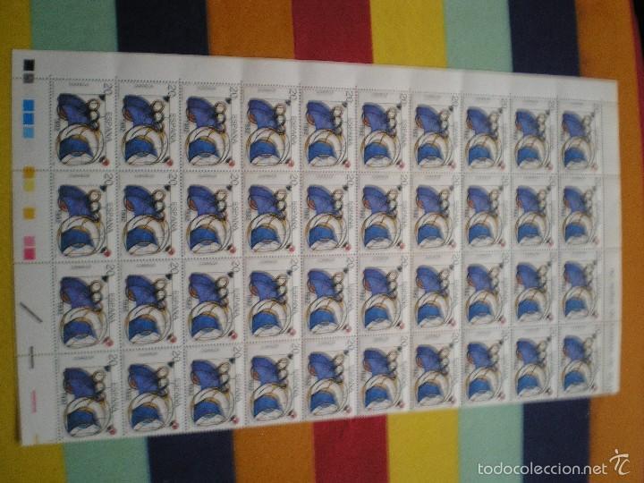 1/2 PLIEGO DE 40 SELLOS, AÑO 92 (Sellos - España - Isabel II de 1.850 a 1.869 - Nuevos)