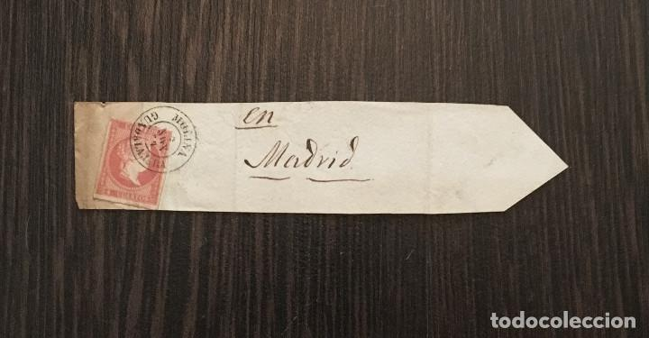 SELLO ISABEL II - 4 CUARTOS - MATASELLO GUADALAJARA - MOLINA DE ARAGON - EN MADRID - AÑO 1860 (Sellos - España - Isabel II de 1.850 a 1.869 - Cartas)