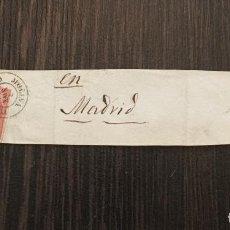 Sellos: SELLO ISABEL II - 4 CUARTOS - MATASELLO GUADALAJARA - MOLINA DE ARAGON - EN MADRID - AÑO 1860. Lote 61889804