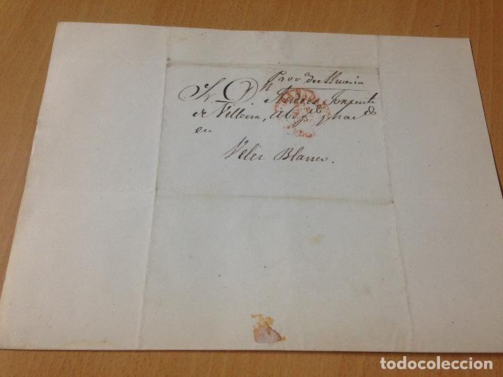 Sellos: PREFILATELIA CARTA SOBRE CIRCULADO GRANADA A VÉLEZ BLANCO ALMERIA 1852 - Foto 3 - 61954564