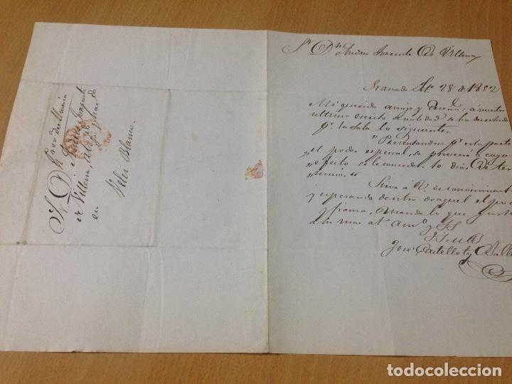 Sellos: PREFILATELIA CARTA SOBRE CIRCULADO GRANADA A VÉLEZ BLANCO ALMERIA 1852 - Foto 5 - 61954564