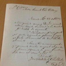 Sellos: PREFILATELIA CARTA SOBRE CIRCULADO GRANADA A VÉLEZ BLANCO ALMERIA 1852. Lote 61954564