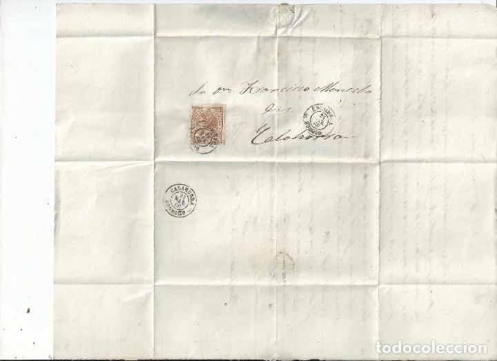 1868 - CARTA ENTERA DE BRIVIESCA A CALAHORRA - BURGOS LA RIOJA (Sellos - España - Isabel II de 1.850 a 1.869 - Cartas)