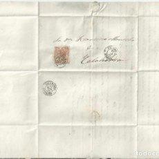 Sellos: 1868 - CARTA ENTERA DE BRIVIESCA A CALAHORRA - BURGOS LA RIOJA. Lote 62020696