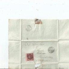 Sellos: 1863 - ENVUELTA DE BRIVIESCA A CALAHORRA - BURGOS LA RIOJA. Lote 62021292