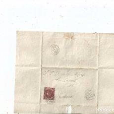Sellos: 1862 - ENVUELTA DE BRIVIESCA A CALAHORRA - BURGOS LA RIOJA. Lote 62059708