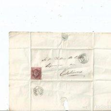 Sellos: 1862 - ENVUELTA DE BRIVIESCA A CALAHORRA - BURGOS LA RIOJA. Lote 62060236