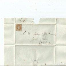 Sellos: 1862 - ENVUELTA DE BRIVIESCA A CALAHORRA - BURGOS LA RIOJA. Lote 62060380