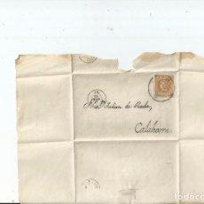 Sellos: 1862 - ENVUELTA DE LOGROÑO A CALAHORRA - LA RIOJA. Lote 62080748
