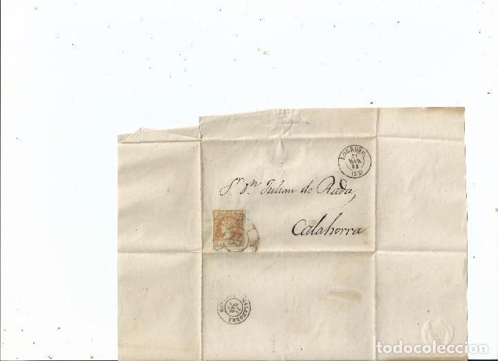 1862 - ENVUELTA DE LOGROÑO A CALAHORRA - LA RIOJA (Sellos - España - Isabel II de 1.850 a 1.869 - Cartas)