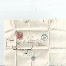 Sellos: 1854 - CARTA ENTERA DE BURGOS A ALFARO - AZUL - LA RIOJA. Lote 62255676