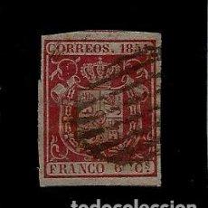 Sellos: REINADO DE ISABEL II - EDIFIL 24 - ESCUDO DE ESPAÑA - 1854. Lote 62776964