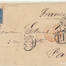 Sellos: FRONTAL : 70. MADRID A PARIS 1865. Lote 64913615