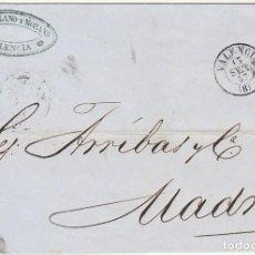 Sellos: ENVUELTA: SELLO 48. VALENCIA A MADRID. 1857. Lote 65837494
