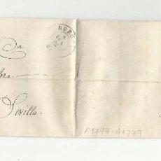 Sellos: CIRCULADA Y ESCRITA 1868 DE BURGOS A CARTUJA PICKMAN SEVILLA. Lote 65929918