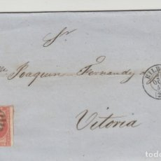 Sellos: CARTA AÑO 1857 FRANQ 48 BILBAO / VITORIA MAT PARRILLA FECHADOR ORIGEN Y DESTINO. Lote 66041542