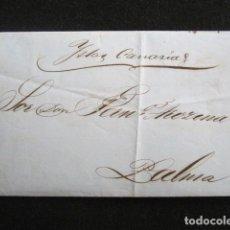 Sellos: AÑO 1857. CARTA DE PUERTO RICO A PALMA (CANARIAS). POR VAPOR. EN EL TEXTO SE HABLA DE MONEDAS.. Lote 67228621