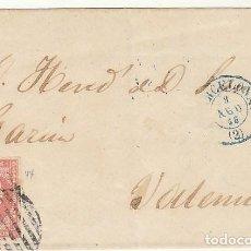 Sellos: ENVUELTA: SELLO 48. BARCELONA A VALENCIA. 1856. Lote 68197741