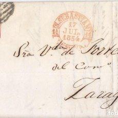 Sellos: CARTA ENTERA BAEZA SAN SEBASTIÁN. 1854. PAÍS VASCO. GUIPÚZCOA. . Lote 68223657