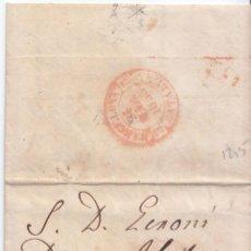 Sellos: BONITA CARTA ENTERA DE FIGUERES. GIRONA A BARCELONA. SOBREPORTE 6 MILÉSIMAS. 1853. PARRILLA. BAEZA. Lote 68637405