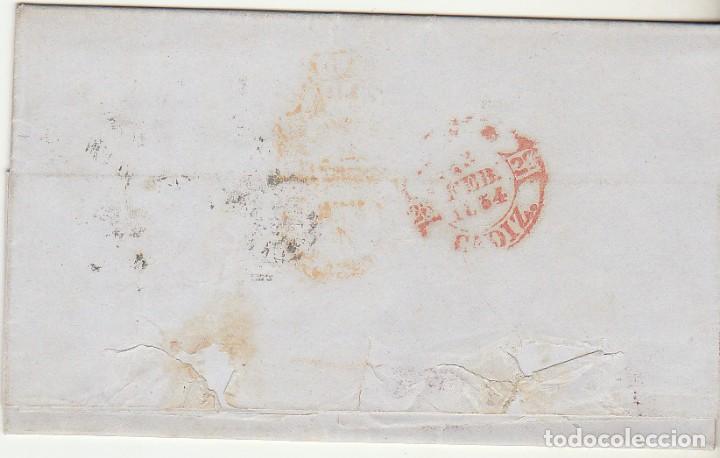Sellos: sello 24. Escudo de España. Madrid a Cádiz . 1854. - Foto 2 - 68728817