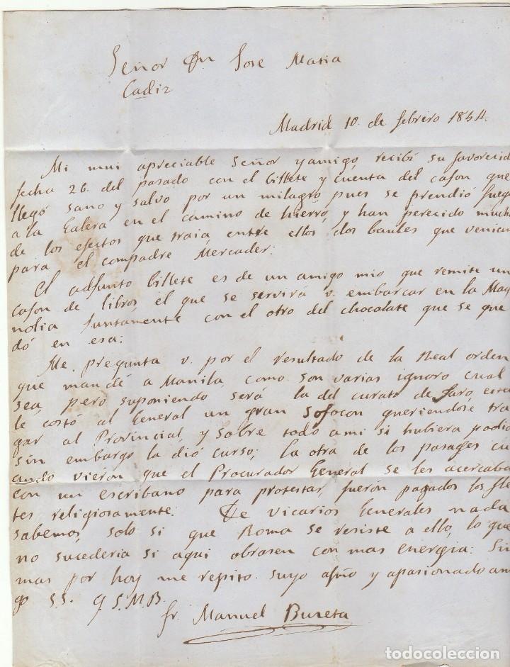 Sellos: sello 24. Escudo de España. Madrid a Cádiz . 1854. - Foto 3 - 68728817