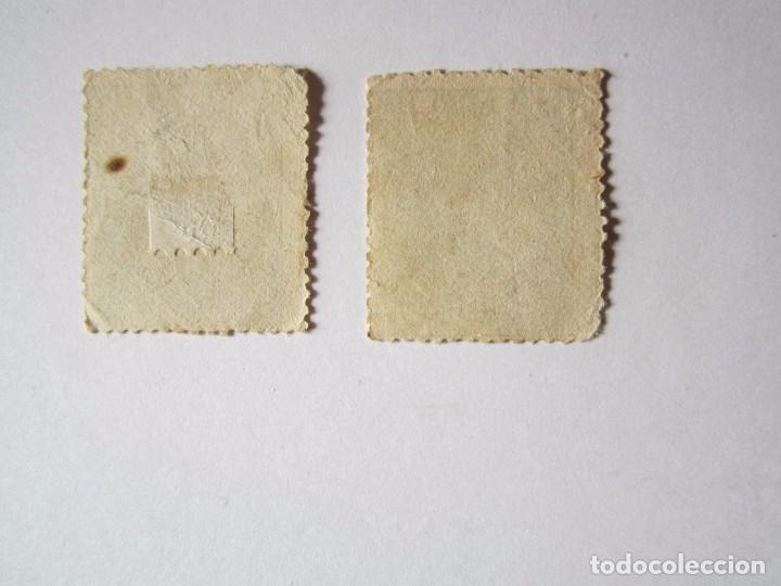 Sellos: 2 SELLOS COMUNICACIONES 1878 DE 10 CENTIMOS NUEVOS - Foto 2 - 68846225