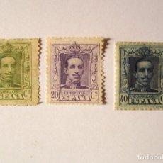 Sellos: 3 SELLOS ESPAÑA ALFONSO XIII 1922-30 DE 2-20 Y 40 CENTIMOS SIN USAR. Lote 68847957