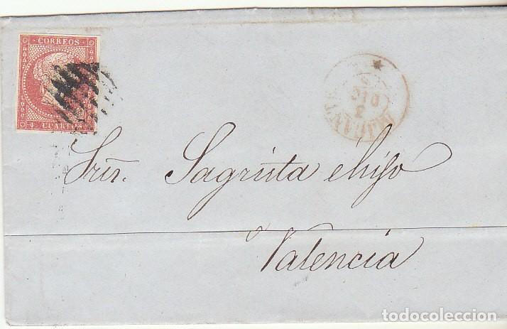 SELLO 48 : ALICANTE A VALENCIA. 1856. (Sellos - España - Isabel II de 1.850 a 1.869 - Cartas)