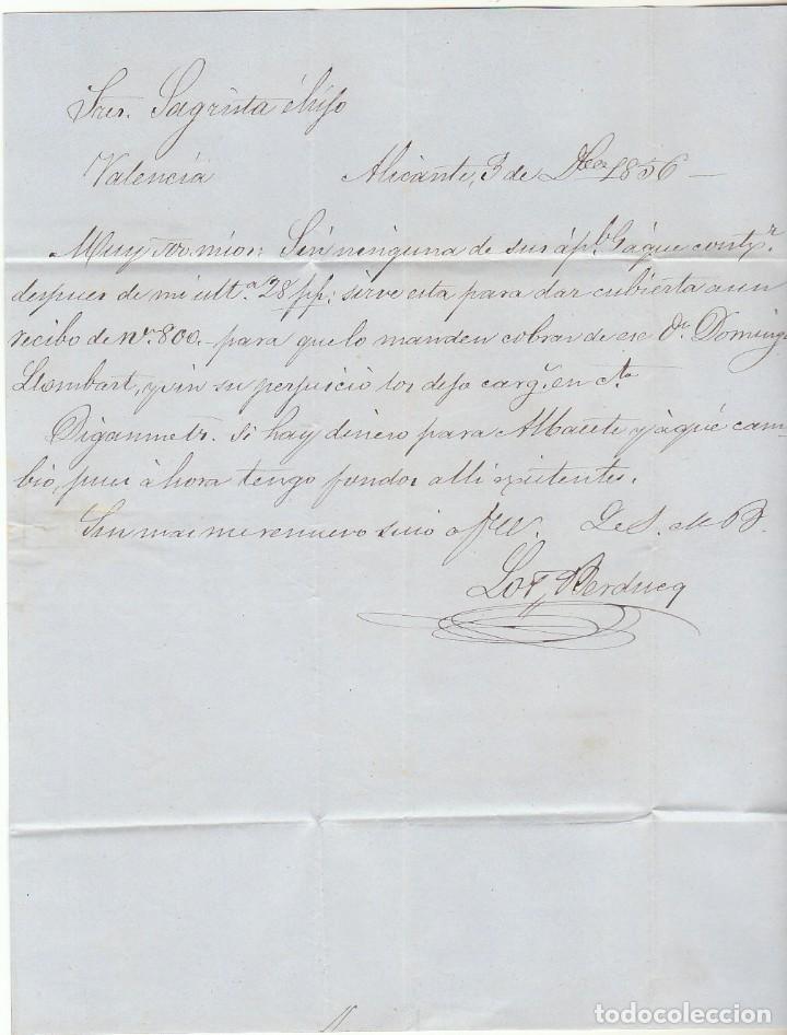Sellos: Sello 48 : ALICANTE a VALENCIA. 1856. - Foto 3 - 69240109