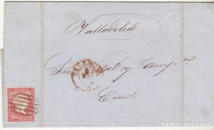 SELLO 48. VALENCIA A VALLADOLID. 1856. (Sellos - España - Isabel II de 1.850 a 1.869 - Cartas)