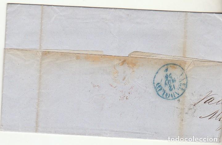 Sellos: sello 48. VALENCIA a VALLADOLID. 1856. - Foto 2 - 69242561