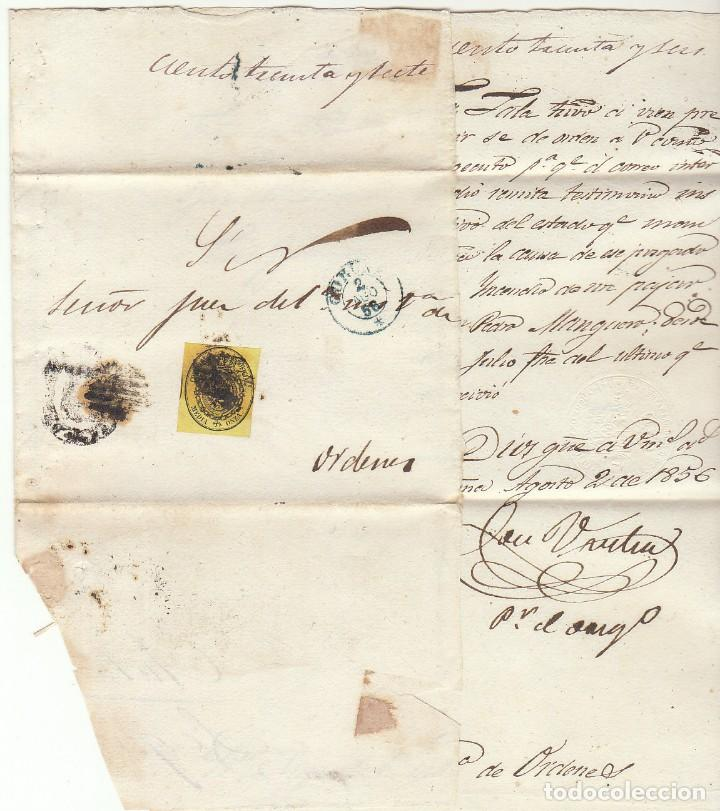Sellos: Sello 35 . ESCUDO DE ESPAÑA : CORUÑA. 1856. - Foto 3 - 72009959