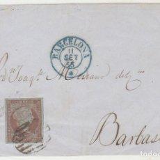 Sellos: FRONTAL : SELLO 39. FILIGRANA DE LAZOS. BARCELONA. 1855.. Lote 72202271