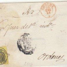 Sellos: FRONTAL : SELLO 35. ESCUDO DE ESPAÑA. BARCELONA. 1858.. Lote 72446751