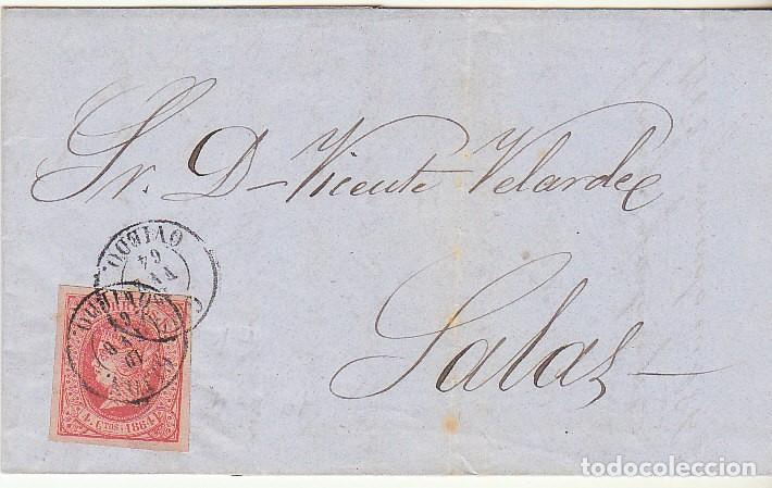 SELLO 64 . GIJON A SALAS. 1864. (Sellos - España - Isabel II de 1.850 a 1.869 - Cartas)