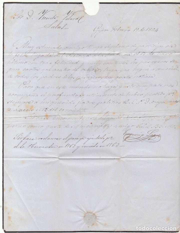 Sellos: Sello 64 . GIJON a SALAS. 1864. - Foto 2 - 72447679