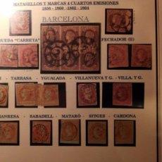 Sellos: BARCELONA ESTUDIO FECHADORES DE LA PROVINCIA... ISABEL II 4 CUARTOS EMISIONES...TAL FOTO.. Lote 72719079
