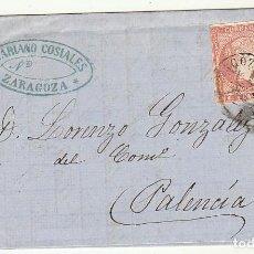 Sellos: SELLO 48. ZARAGOZA A PALENCIA. 1859. . Lote 72952979