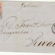 Sellos: FRONTAL : SELLO 48 . GIJON A RIVADEO (LUGO). 1858.. Lote 72954071