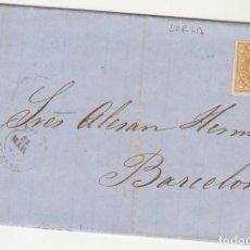 Sellos: SELLO 52 . ISABEL II.: LORCA A BARCELONA. 1862.. Lote 72954691