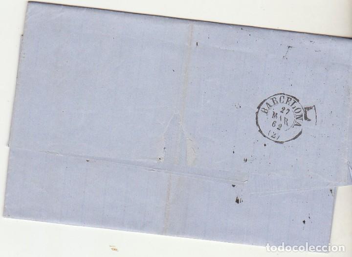 Sellos: Sello 52 . ISABEL II.: LORCA a BARCELONA. 1862. - Foto 2 - 72954691
