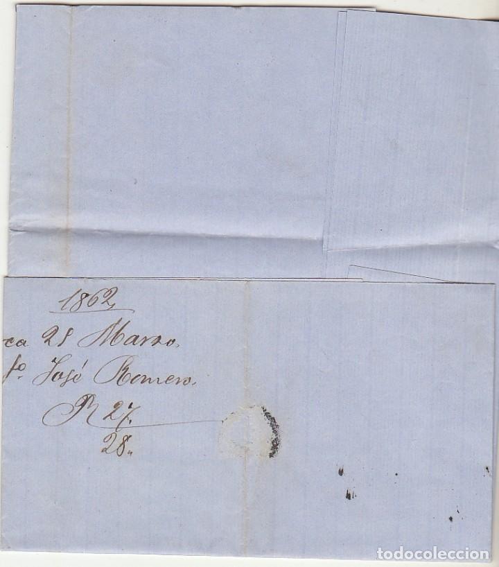 Sellos: Sello 52 . ISABEL II.: LORCA a BARCELONA. 1862. - Foto 3 - 72954691