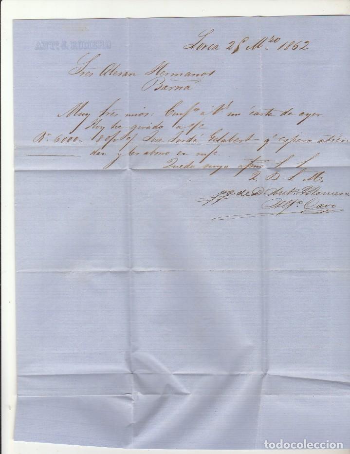 Sellos: Sello 52 . ISABEL II.: LORCA a BARCELONA. 1862. - Foto 4 - 72954691