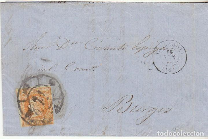 SELLO 52 . ISABEL II.: VALLADOLID A BURGOS. 1861. (Sellos - España - Isabel II de 1.850 a 1.869 - Cartas)