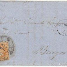 Sellos: SELLO 52 . ISABEL II.: VALLADOLID A BURGOS. 1861.. Lote 72957587